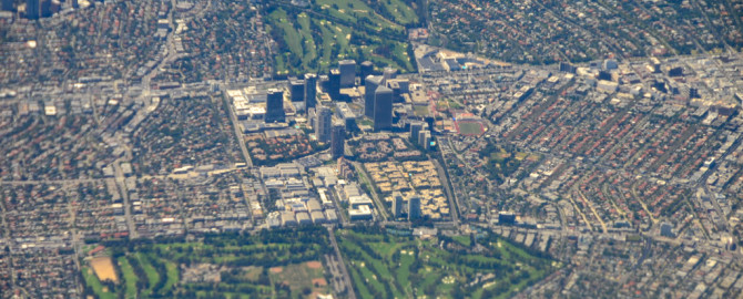 Century City from a Plane