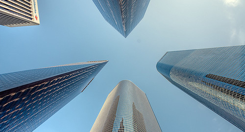 Downtown LA Looking Up